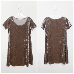 Socialite Velour Velvet Dress Short Sleeve